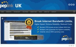 Peplink UK Web Design